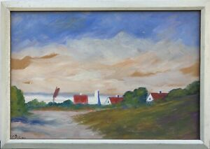 Evening-Mood-Fischerhauser-At-Sea-Baltic-Sea-Island-Bornholm-Denmark-Oil-53X38