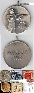 Heidelberg Schützenmedaille 1952 Rand: Fr. KAUZ 1954 / 55 ca. 33 mm ca. 18,41 g