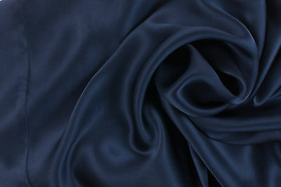 1 Luxury Pure Charmeuse SILK Pillowcase Housewife ( Midnight Blue)