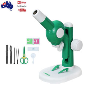 New-DIY-Microscope-Kit-Lab-LED-Home-School-Educational-Toy-Gift-For-Children-Kid