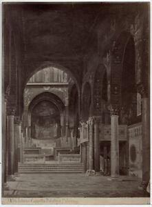 Palermo Cappella Palatina Foto originale albumina Sommer & Behles 1860c L815