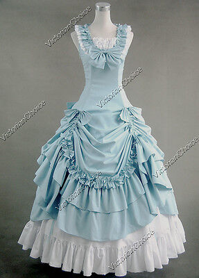 Victorian Southern Belle Period Dress Gown Reenactment Halloween Costume 081 XL