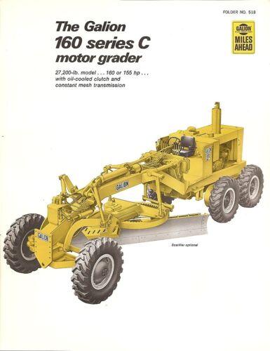 Equipment Brochure - Galion - 160 Series C - Motor Grader - 1971 (EB913)