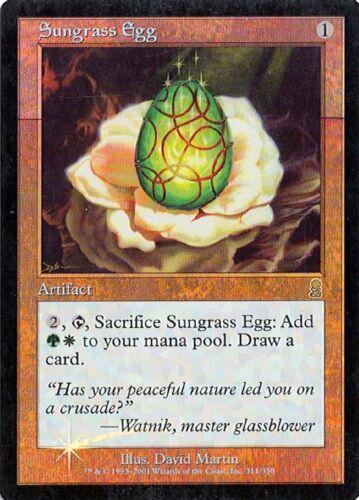 Foil MTG Sungrass Egg NM Odyssey