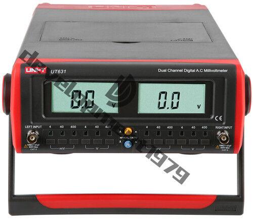 UT631 Dual-Channel Digital Display AC Millivolts Meters UT-631