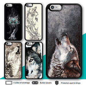 wholesale dealer f6b26 40ba5 Details about iPhone X 8 7 Plus 6s 6 Case Wolf Animal Bumper Print Cover  for Apple SE 5s 5c 4
