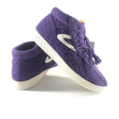 Tretorn Mens Size 8.5 Nylite Terry Vibrant Purple Vintage White Sneaker Shoes