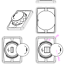 miniatura 6 - Toma-USB-Superficie-12v-24v-2-1A-Encastrable-Redondo-Combinable-Camper