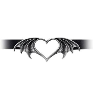Alchemy-Gothic-Nocte-Amor-Winged-Heart-Pewter-Black-Faux-Leather-Choker