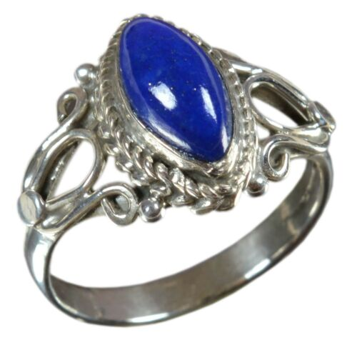 925 Solid Sterling Silver Ring Natural Multi Gemstones US Size 3 to 14 JR23