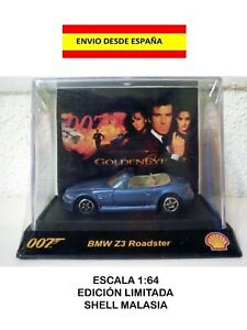 BMW-Z3-ROADMASTER-1-64-GOLDEN-EYE-007-JAMES-BOND-SHELL-DIE-CAST-MAQUETA