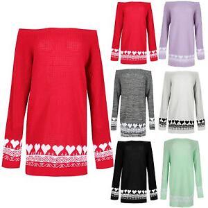 2019 DernièRe Conception Femmes Baggy Off The épaule Tricot Femme Coeurs Imprimés Robe Pull Pullover Luxuriant In Design