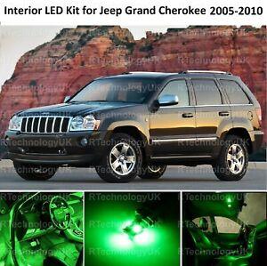 GREEN PREMIUM LED INTERIOR LIGHT BULB KIT for JEEP GRAND CHEROKEE 2005-2010