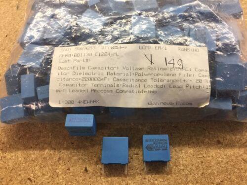 B81130-C1224-M EPCOS CAPACITOR FILM 0.22UF 20/% 275VAC RADIAL 120 PIECE LOT