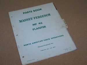 MF-46-PLANTER-PARTS-BOOK-MANUAL-CATALOG-from-MASSEY-FERGUSON-TRACTOR-ORIGINAL