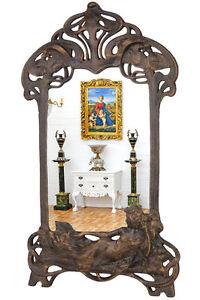 art nouveau mirror art nouveau miroir fonte frisierspiegel. Black Bedroom Furniture Sets. Home Design Ideas