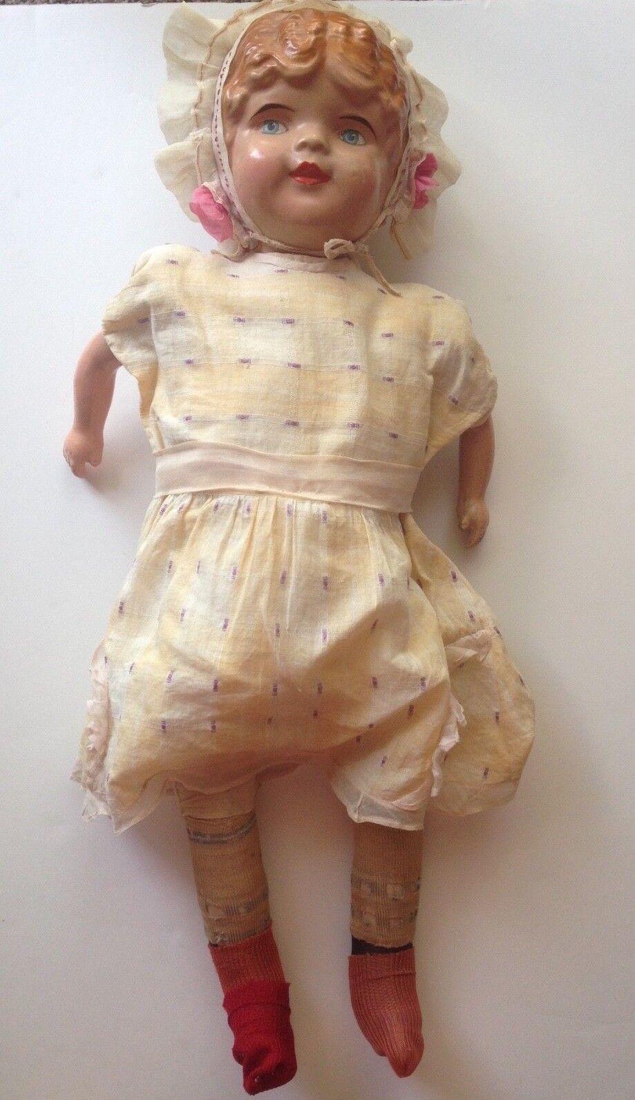 Antique American bambola azienda  Composition bambola Original Paint 25   a buon mercato
