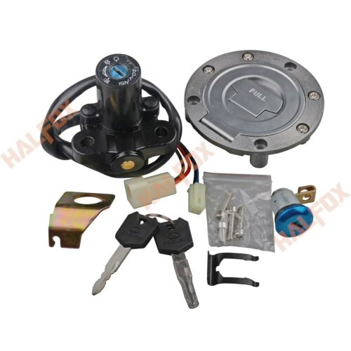 Ignition Switch Set Gas Cap Lock Key Fit Yamaha YZF R1 R6 06-2015 fjr1300 03-05