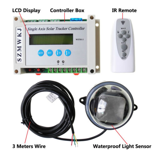 Electronic Single Axis Solar Tracking Controller 150-450mm Linear Actuator Kit