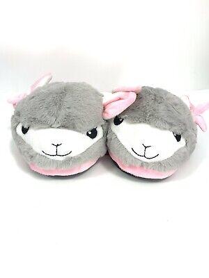 New Llama Plush Adult//teen Slippers Brown//Purple Gift Soft Cozy Sz L 9//10