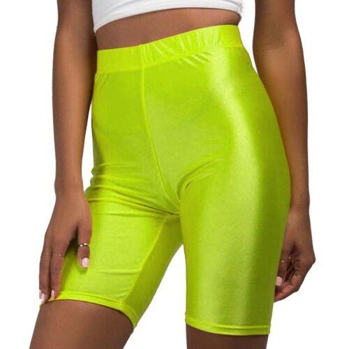 Damen Kurze Leggings Shorts Hohe Taille Sports Radlerhose Laufhose Gym Fitness