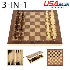 3-en-1-juego-de-ajedrez-mano-hecha-a-mano-de-viaje-con-tablero-de-madera-plegable-Juego-de-tablero