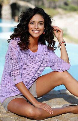 Bulk Buy 10 X Womens Ladies Jumper Sweater Top Cotton Mesh Sparkle Size 8-16 Uk