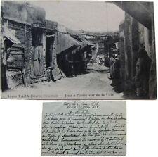 Taza rue à l'intérieur de la ville 1921 cpa Maroc