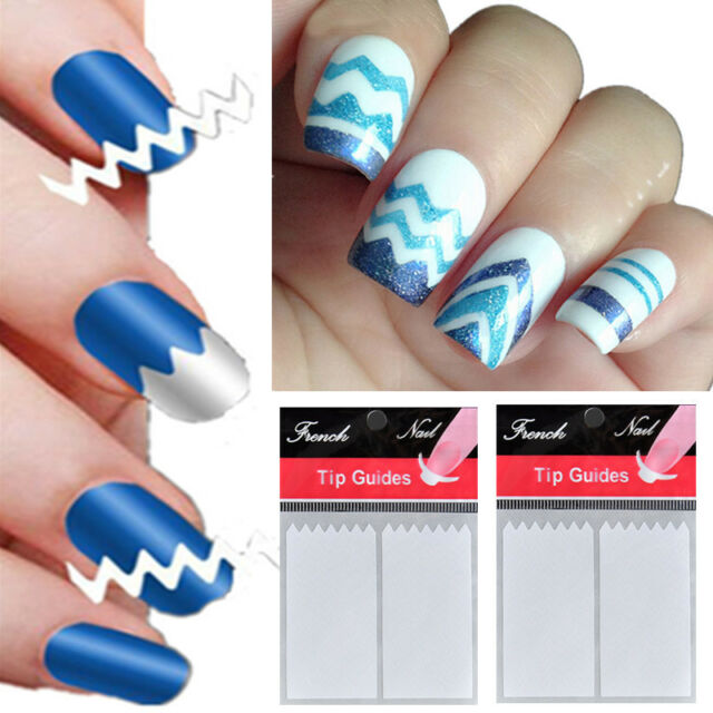Fashion Women French Manicure Nail Art Tips White Tape Stickers Guide Stencils