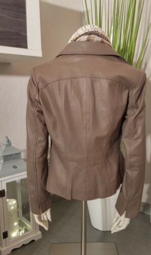 Guido Maria Kretschmer by Heine Giacca di Pelle Tg 40 50 52 TAUPE Giacca