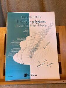 Roland Dyens Trois pièces polyglottes pour guitare partition ed. Lemoine