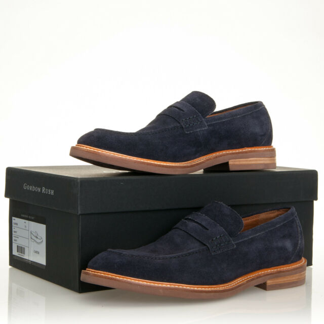05fe2f266f4 Gordon Rush Men s Carter Suede Navy Blue Penny Loafers - Size 7.5 for sale  online