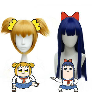 Pop Team Epic Poputepipikku Popuko Pipimi Wig Blue Hair Anime Wigs