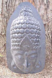 Oriental face plaster concrete mold buddha buddah asian ancient face mould