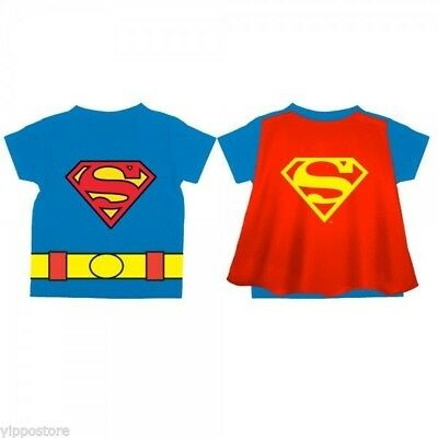 92d076042 DC Comics Officially Licensed Superman Logo Toddler's Blue Cape T-Shirt