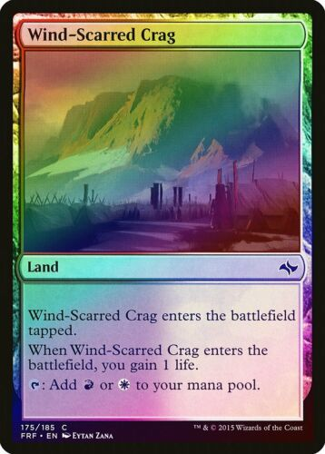 Wind-Scarred Crag FOIL Fate Reforged PLD Land Common MAGIC MTG CARD ABUGames