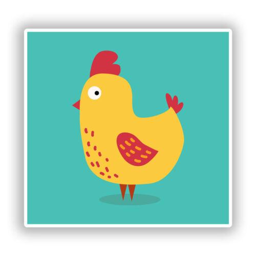 2 x Chicken Vinyl Stickers Travel Luggage #7943