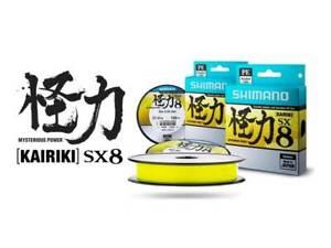 Shimano-Kairiki-SX8-150m-Braid-Fishing-Line-Ultra-Thin-Yellow-8-Strand-PE-Braid