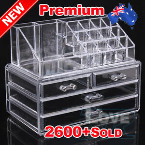 OZ-Holder-Cosmetic-Makeup-Organizer-4-Drawer-Storage-Jewellery-Box-Clear-Acrylic
