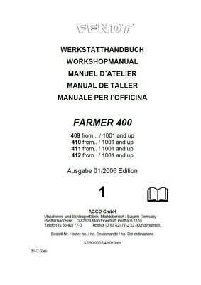 Fendt Farmer Vario 409 410 411 Manual de Taller Digital