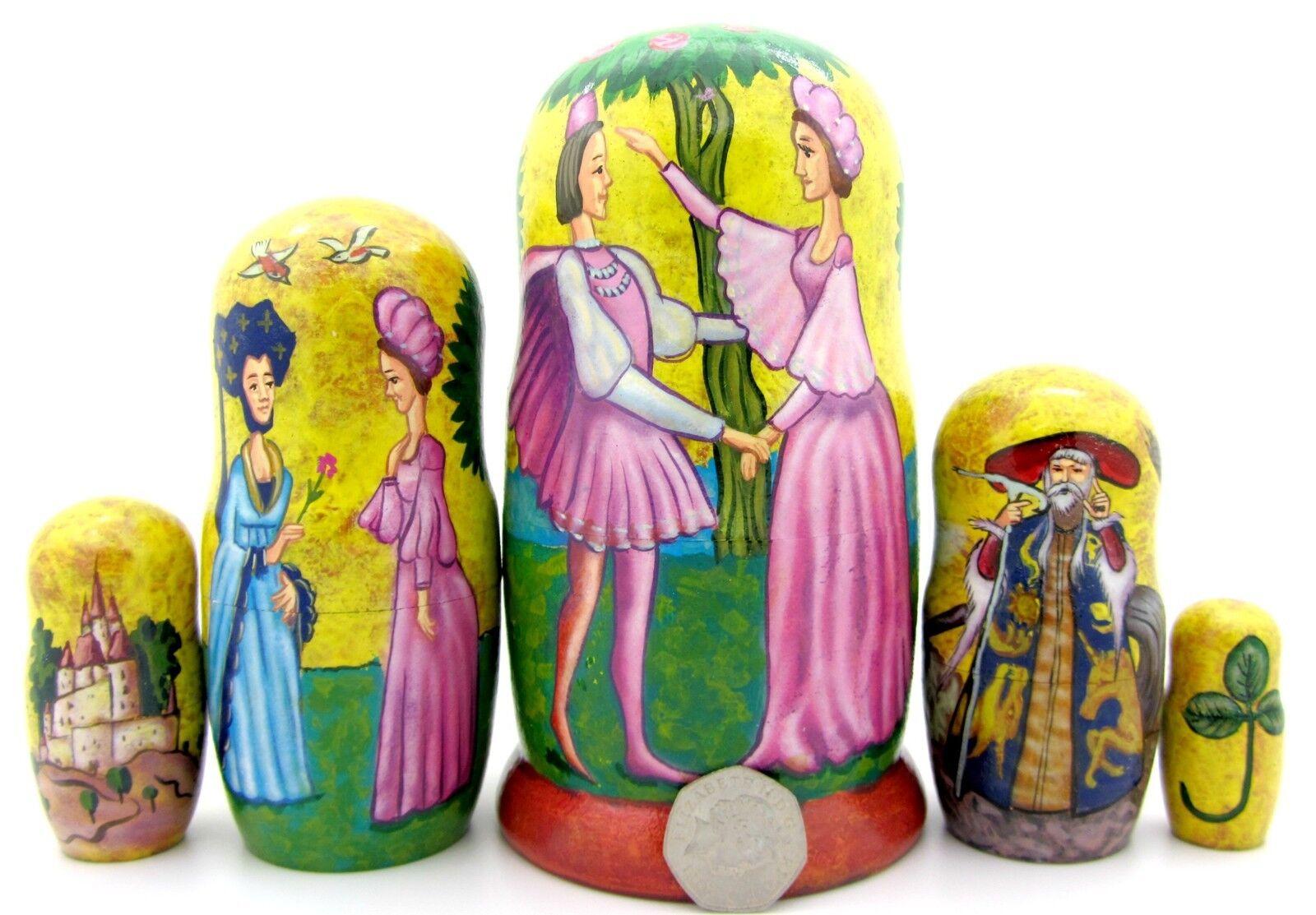 Matrioska Nidificazione Dtuttia Russia Bambole Baautobushka Originale 5 inglese Fairy   profitto zero
