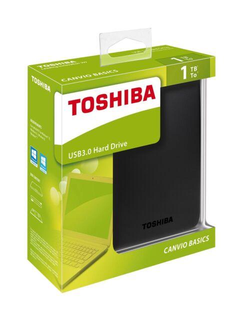 Disco Duro Externo 2.5'' 1TB USB 3.0 PS4 Toshiba Canvio Basics 1000 GB HD Disk