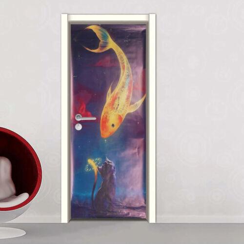 3D Wall Art Sticker Vinyl Decal Self Adhesive Door Fridge Wrap Mural 60x150cm