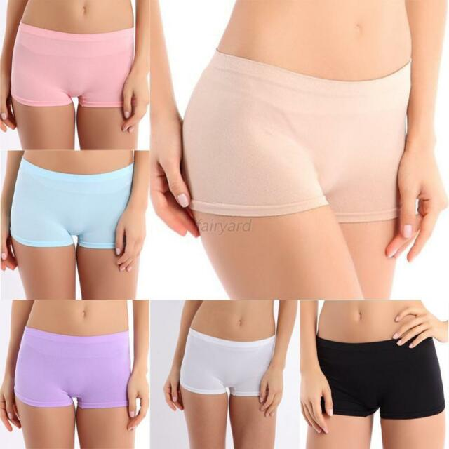 Chic Women Solid Color Hot Pants Club Yoga Gym Stretch Safety Dance Shorts H89