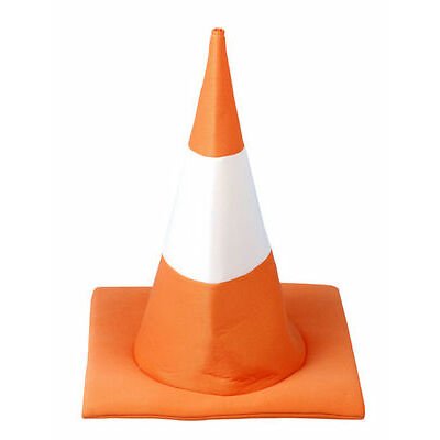 6X NOVELTY SOFT ORANGE TRAFFIC CONE HAT FANCY DRESS HEN PARTY STAG DO PARTY HAT