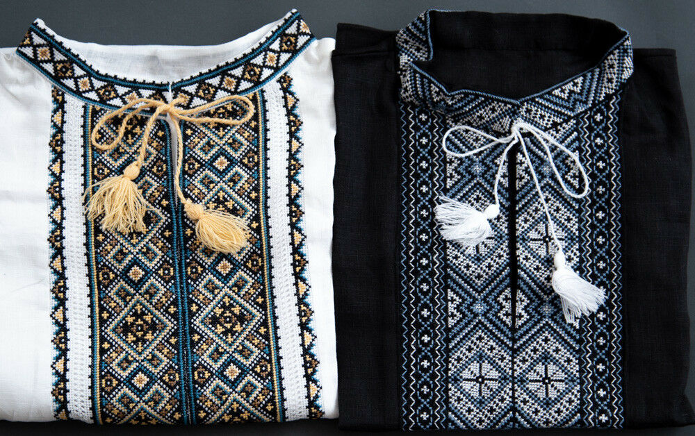 SET 2 VYSHYVANKA Ukrainian Embroidered shirt Men's LINEN S-4XL Wedding Dress