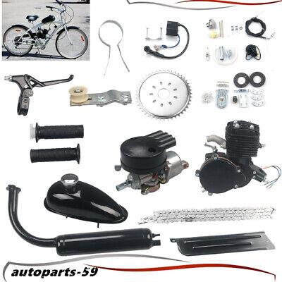 black 80cc 2 Stroke Cycle Petrol Gas Engine Bicycle Bike Motor Kit Motorized Kit DIY Air Cooling