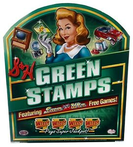 GREEN-STAMPS-slot-machine-Acrylic-Topper