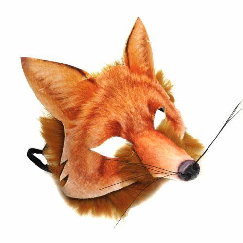 Adult Kids Mr Fox Mad Hatter Tea Fancy Dress Hunt Animal Carnival Book Week Mask