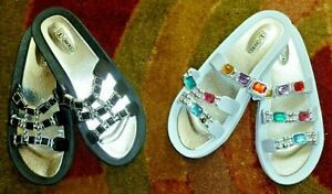 NEW-Colorful-Summer-Sandals-Shoes-2-Pair-Size-10-Beaded-Style-Michaela-amp-Ebony